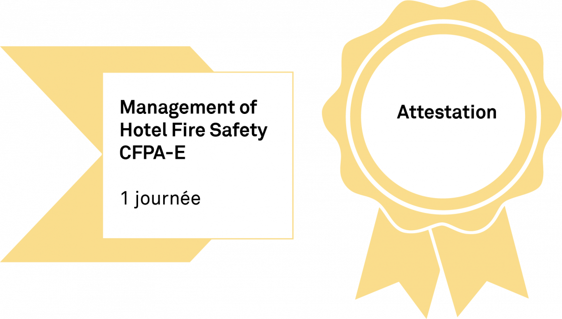 Diplôme Management of Hotel Fire Safety CFPA-E