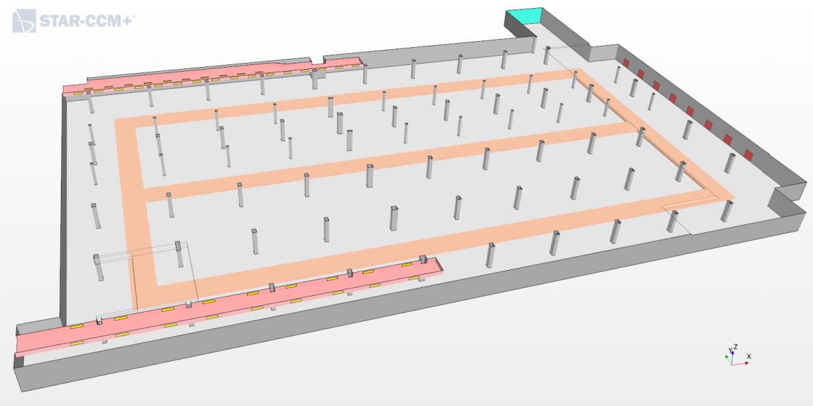Simulation pour la ventilation des parkings souterrains